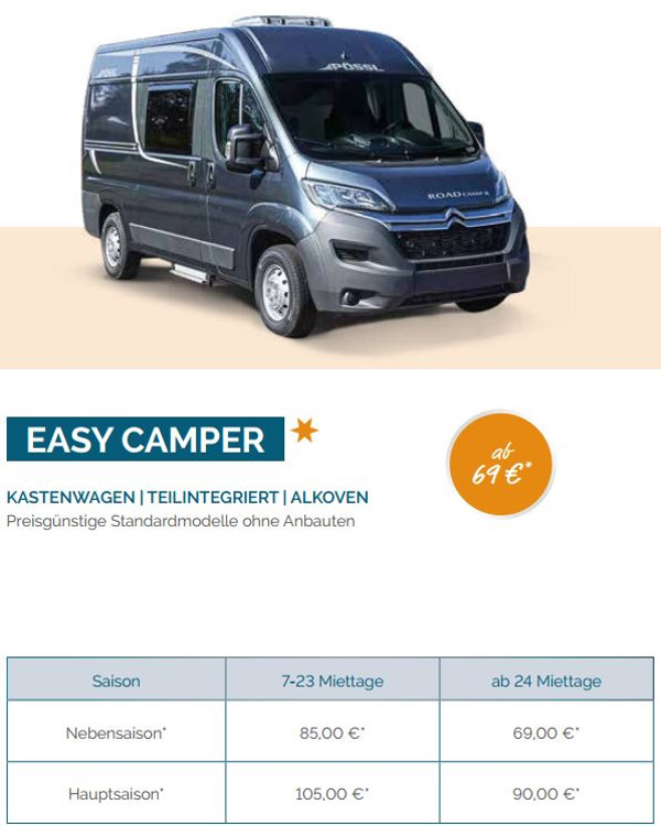Kategorie Easy Camper