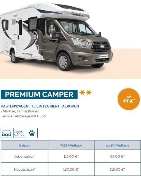Kategorie Premium Camper