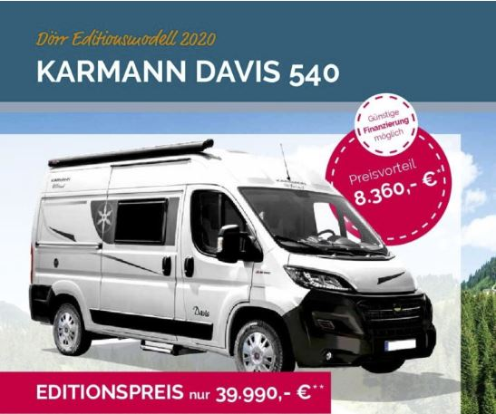 Messeangebot 2020 Karmann Davis 540 Dörr Edition