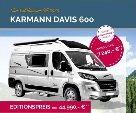 Messeangebot 2020 Karmann Davis 600 Dörr Edition