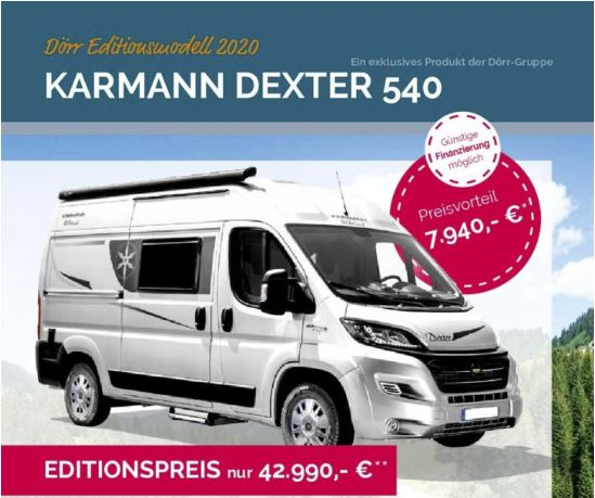 Messeangebot 2020 Karmann Dexter 540 Dörr Edition